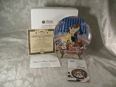3 Knowles Disney Beauty & Beast, Mickey Mouse Sorcerer's Fantasia Plates