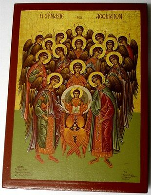 Ikone Versammlung der ENGEL Icon Angel  Ikona Icone Ikonen orthodox Icoon Icono