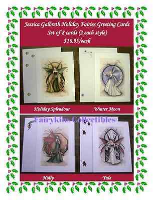 Jessica Galbreth Christmas/Holiday/Yule Fairy Greeting Card Set (8 cards)