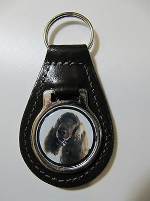 Red Setter Dog Key Ring Leather Fob Ideal Gift 8C