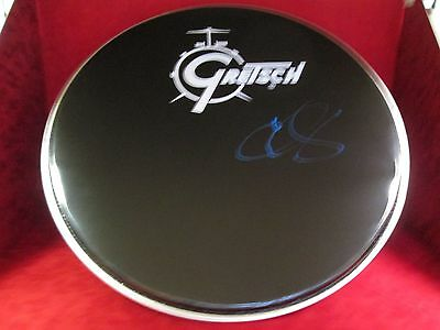 "CHRIS LAYTON Signed Autograph 20"" Drumhead Stevie Ray Vaughan Double Trouble"