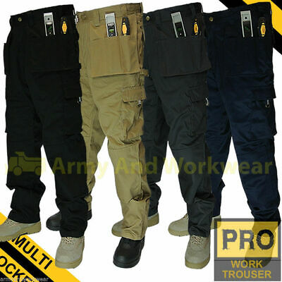 Work Trouser Trade Multi Tool Pocket Tough Pro Pants Triple Stitched Workwear