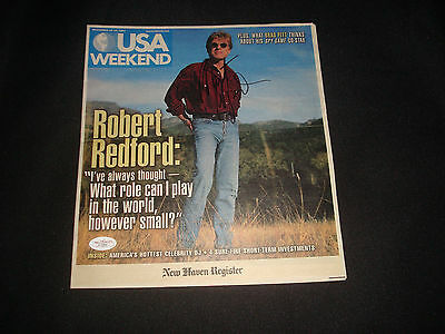 Robert Redford The Natural Signed 2001 USA Weekend RARE JSA Certified Autograph