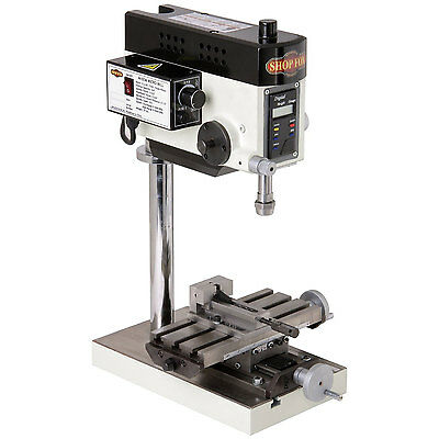 Shop Fox M1036 0.2 HP 110V 2 Amp Micro Milling Machine, 1/4-in Drilling Capacity