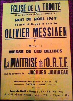 Olivier MESSIAEN (Composer): Original 1969 Organ Recital Poster