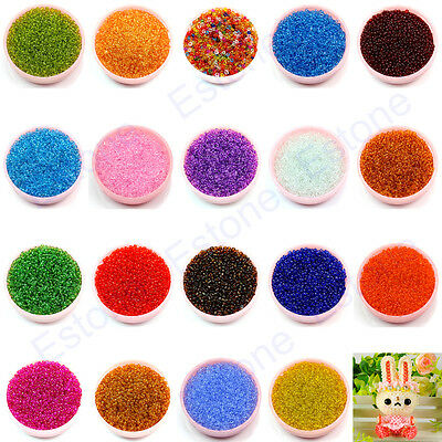 1500Pcs 2mm Czech Glass Seed Spacer Round Clear Beads Picks Jewelry DIY Making