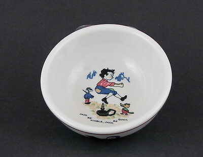 "Shenango China Child's Bowl w Jack Be Nimble Decoration, 5 1/4"" dia"