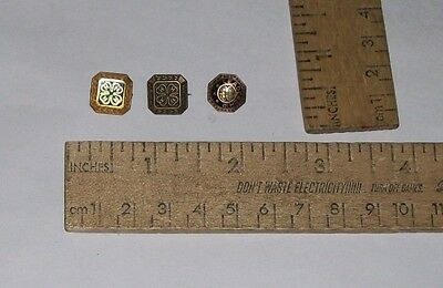 3 different - 4H - Pins - Square Enameled - Square - Round Leadership enameled