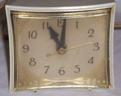 Vintage GE General Electric ALARM CLOCK Model 7296 USA WORKS! Pretty Gold!