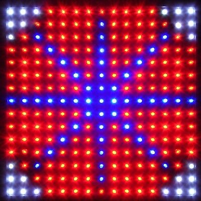 225LED Grow Light Lamp Full Spectrum Blue Red Orange White Quad-band Plant Panel