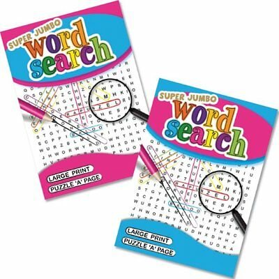 A4 Travel Jumbo Large Print Wordsearch Word Puzzle Book