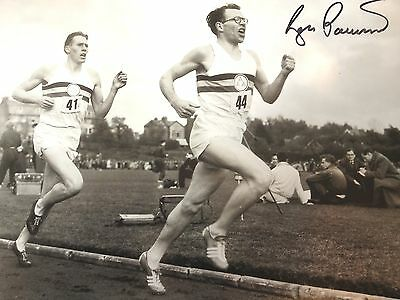 Sir Roger Bannister - First Sub 4 Minute Miler -  Superb Signed B/W Photograph