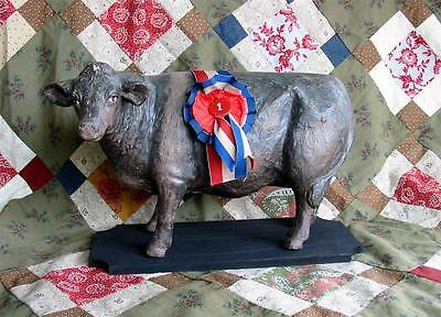 Vintage Style Prize Angus Cow 1st Place State Fair Ribbon  Farm Collectible
