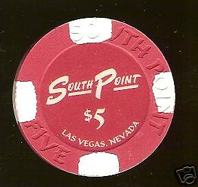 $5 South Point 1st issue New Uncirculated Las Vegas Casino Chip