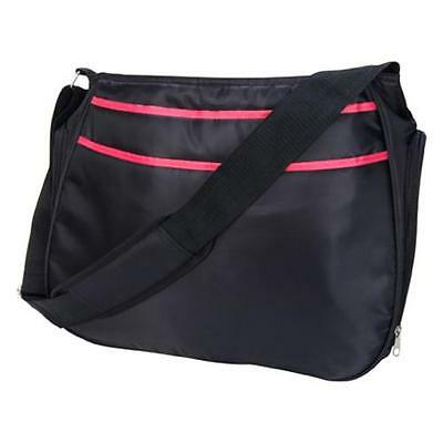 Trend Lab Diaper Bag - Black and Fuchsia Pink Ultimate Hobo