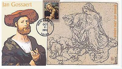 Jvc Cachets - 2013 Virgin & Child By Jan Gossaert Issue First Day Cover Fdc #1