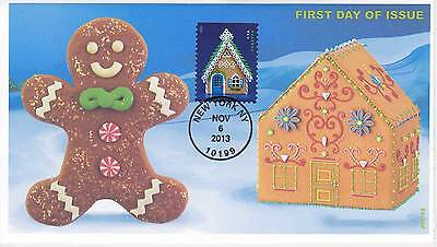 Jvc Cachets - 2013 Gingerbread Houses Holiday  Issue First Day Cover Fdc #2