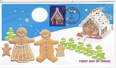 Jvc Cachets - 2013 Gingerbread Houses Holiday  Issue First Day Cover Fdc #4