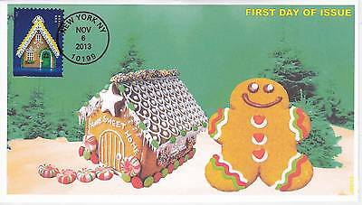 Jvc Cachets - 2013 Gingerbreaed Houses Holiday  Issue First Day Cover Fdc #3