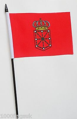 Spain Navarre Small Hand Waving Flag