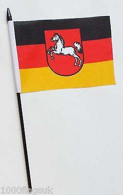 Germany Lower Saxony State Small Hand Waving Flag