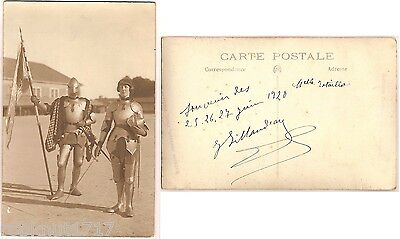 CPA 1920 Maurice Couvrat Poitiers armure Jeanne d'Arc Joan of Arc in armour 818R