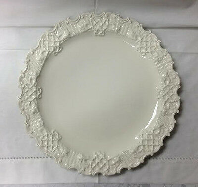 "MOTTAHEDEH CREAMWARE LONGTON CAKE PLATE 13"" MADE IN ITALY BRAND NEW"
