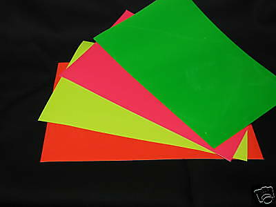 Any Color Gloss or NEON sign Vinyl, 3 sheets 8x12 inch colored glossy vinyl