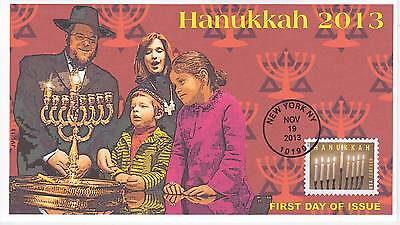 Jvc Cachets -2013 Hanukkah First Day Cover Fdc Holiday Topical #1