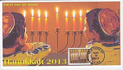Jvc Cachets -2013 Hanukkah First Day Cover Fdc Holiday Topical #2
