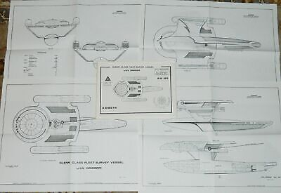 Star Trek III; The Search For Spock Movie U.S.S. Grissom Starship Blueprints NEW