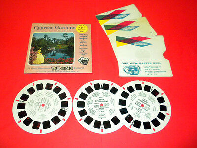 CYPRESS GARDENS FLORIDA - BEAUTIFUL  (A961) Viewmaster PACKET 3 reels SET