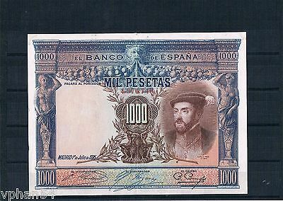 SPAIN / 1000 PESETAS / Big Size Note / 1925 / 120 mm x 160 mm. RARE NOTE