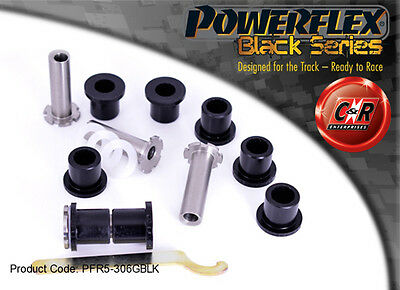 BMW E36 3 Series Compact Powerflex Black Rear Trail Arm Bushes Adj PFR5-306GBLK