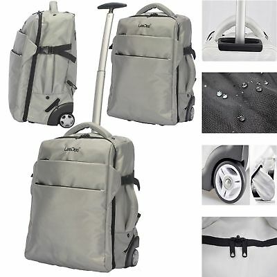 Lightweight Wheeled Cabin Travel Bag Suitcase Case Hand Luggage Trolley Holdall