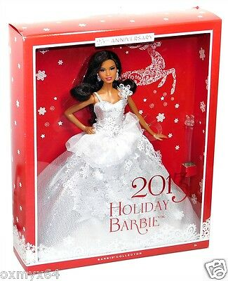 2013 Barbie Collector 25th Anniversary Holiday Doll African-American!