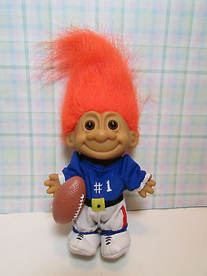 """#1 FOOTBALL PLAYER - 5"""" Russ Troll Doll - NEW STORE STOCK IN ORIGINAL WRAPPER"""