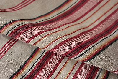 Mattress ticking tick Antique woven linen cotton French striped fabric material