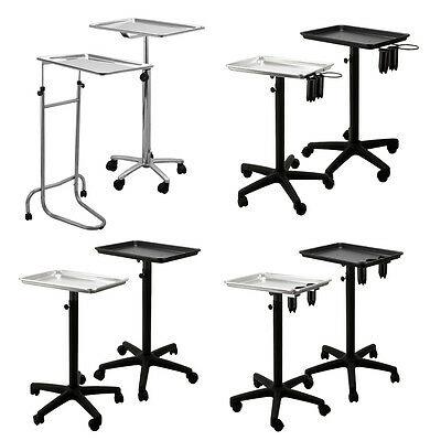 CHOOSE Model & Color Rolling Adjustable Salon Mayo Style Trays Medical Stands