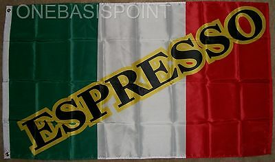 3'x5' Espresso Coffee Italy Flag Outdoor Italian Restaurant Green White Red 3x5