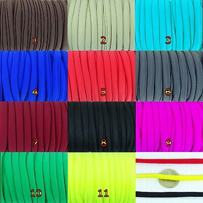 5 Metros Cinta Elástica Trapillo 8mm  A201C Color Elegir Licra Cloth Ribbon