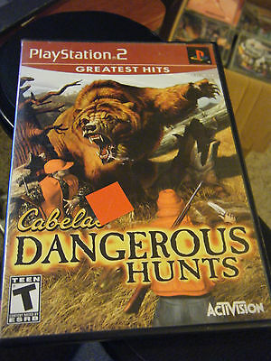 Cabela's Dangerous Hunts (Sony PlayStation 2, 2003) - Greatest Hits - Complete!!