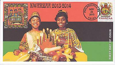 Jvc Cachets -2013 Kwanzaa First Day Cover Fdc Holiday Topical Black Heritage #2