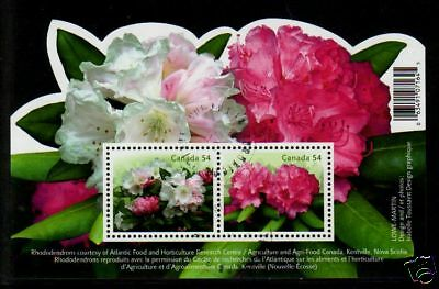 Canada 2009 Rhododendrons Miniature Sheet Fine Used