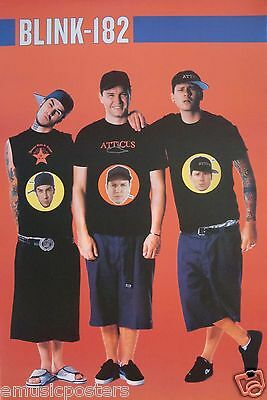 "BLINK-182 ""BAND'S FACES ON THEIR T-SHIRTS"" POSTER FROM ASIA - Alt Punk Music"