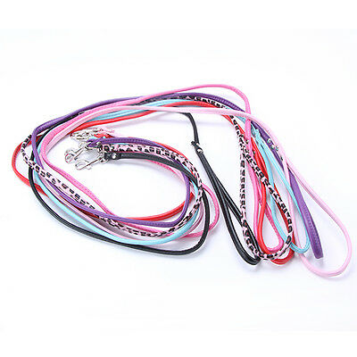 7 Colors Pet Puppy Dog Cat Collar Leash PU Leather Long Leash Lead for Small Dog