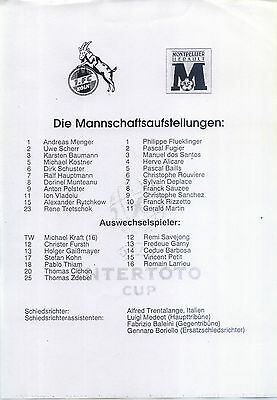 UI-Cup 27.07.1997 1. FC Köln - Montpellier HSC, InterToto Cup Single Sheet