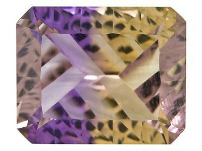 3.80 CT ~ Ametrine Purple & Yellow ~ Octagon ~ CONCAVE CUT Natural Gemstone