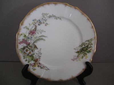 F9 Redon Limoges Handpainted Spring Flowers Scalloped Plate