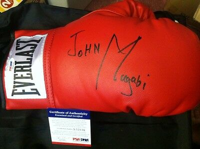 "JOHN ""The Beast"" MUGABI Auto Autograph Signed Everlast Boxing Glove PSA/DNA RARE"